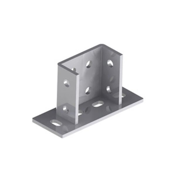Pied de rail double horizontal